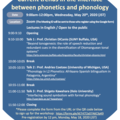 [Online Workshop] Current trends in the interface between phonetics and phonology
