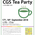 CGS Tea Party 2018 September