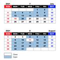IERS Summer Recess Schedule